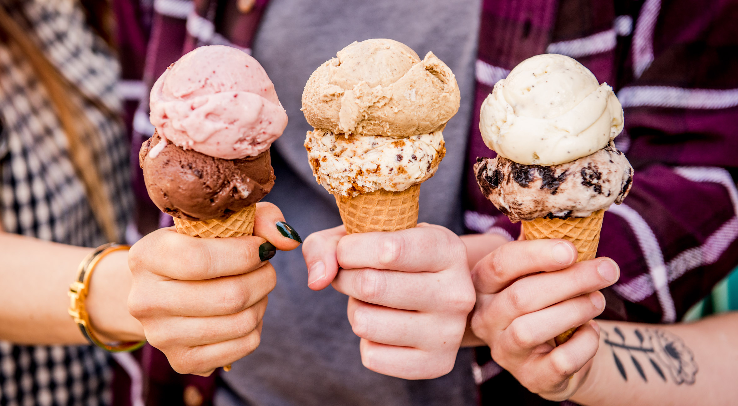 Two Ice Creams with Double Scoops at Davey's Ice Cream – Voted one of the Best Ice Cream Shops in NYC by Zagat