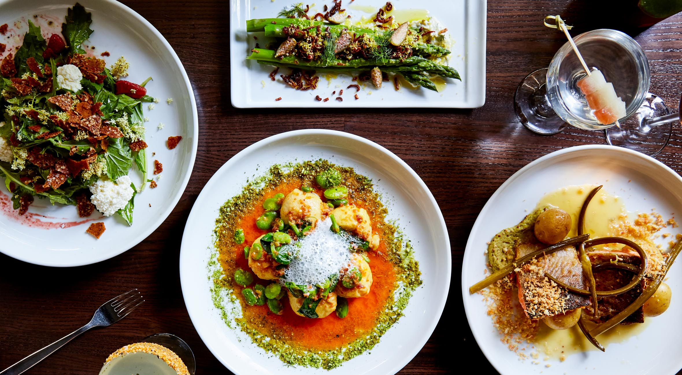 Choose Whatever You Like at Prospect – Everything From Oysters to Truffled Deviled Eggs, Burrata, Arctic Char, Mushroom Risotto and Wines etc.