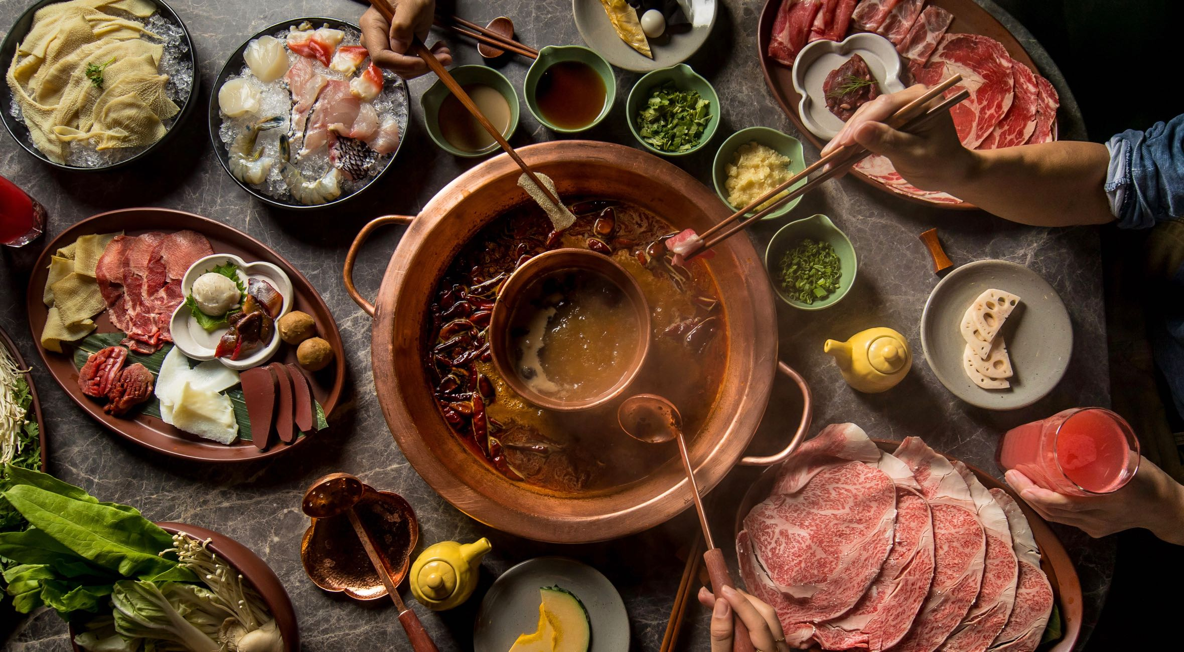 Combo Platter at Tang Hotpot in Chinatown – One of NYC's Best Hotpot Experiences