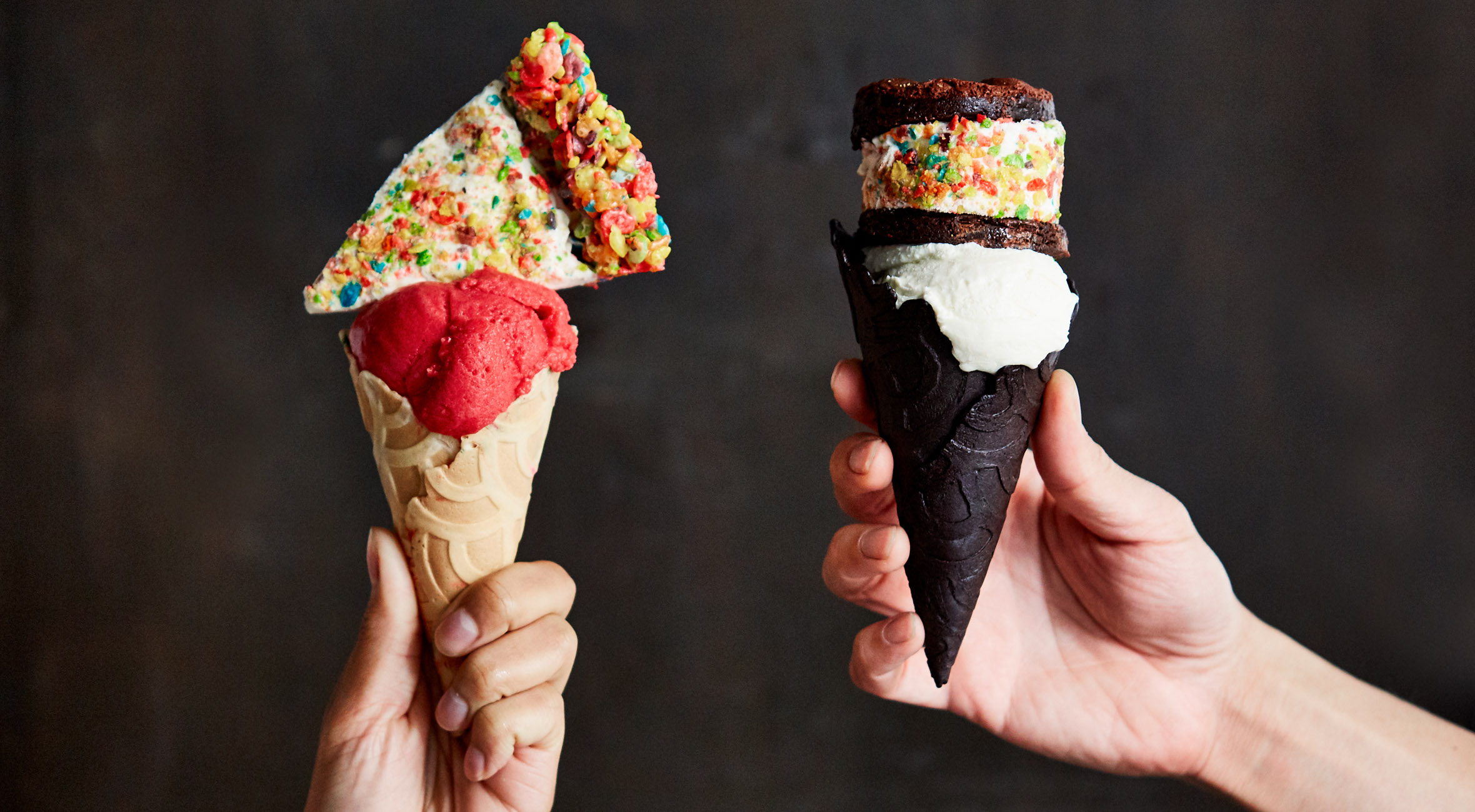 Two 'Stack It' Ice Creams with Pie or Ice Cream Sandwich at Ice & Vice in LES – One of NYC's Best Ice Cream Shops