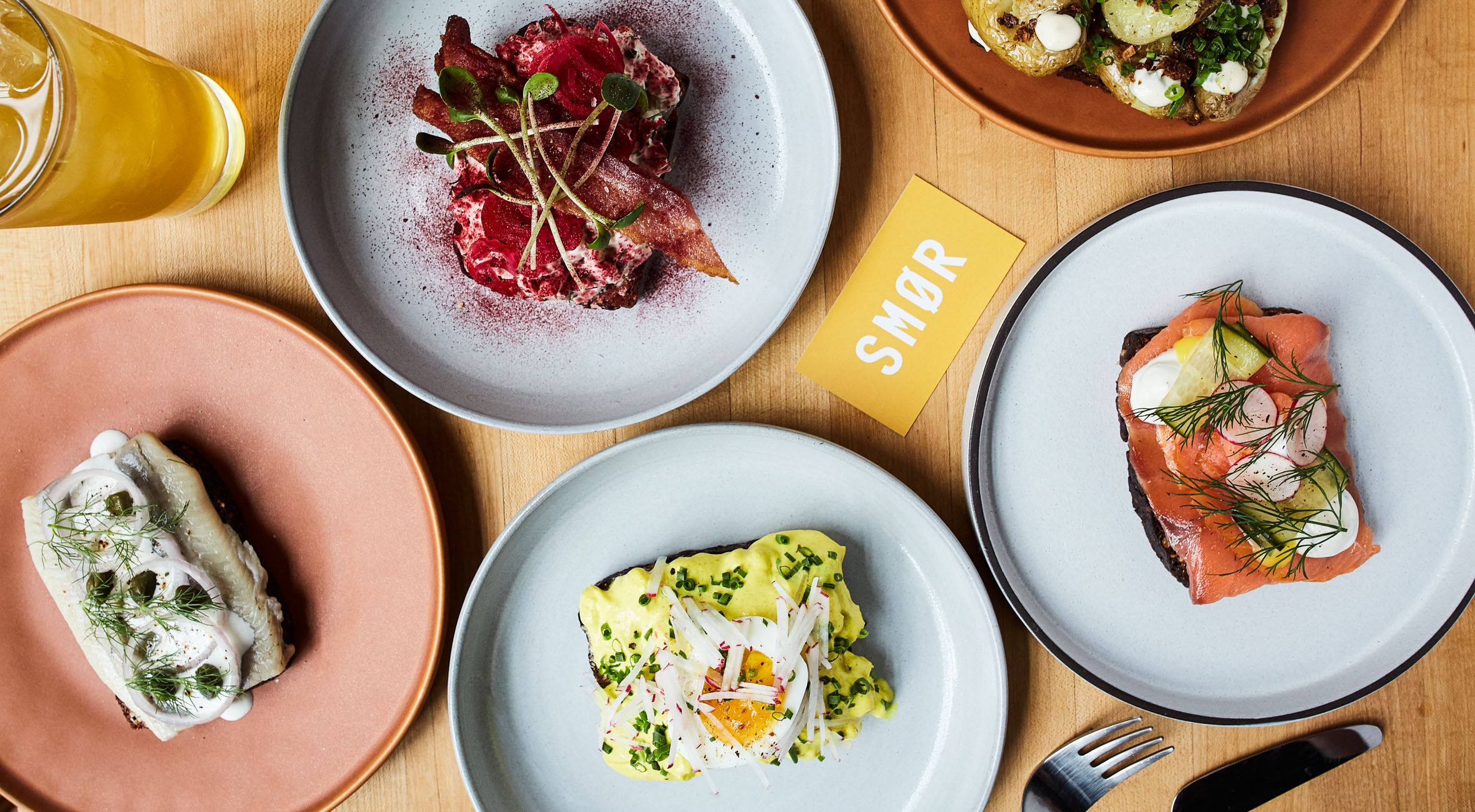 Four Pieces of Smørrebrød for 2 People at Smør in East Village – Nordic Eatery Brings Open-Faced Sandwiches to NYC
